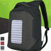 solar backpack anti thief