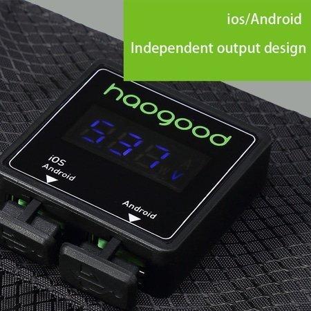 digital solar portable charger