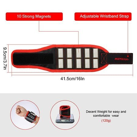 Magnetic Wristband 10 Powerful Magnets Tool Belt
